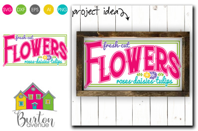 Fresh Cut Flowers - SVG file for Spring