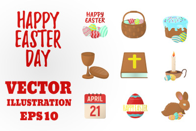 Set of Easter icons + Eggs Icons.