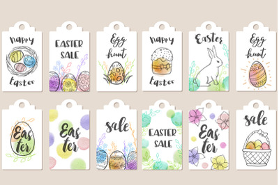 Easter Sale Tags Collection