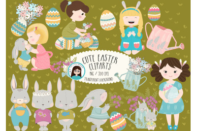 Easter clipart Bundle cute