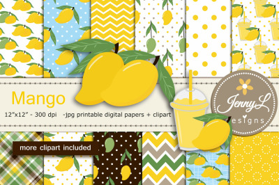 Mango Digital Papers and Clipart