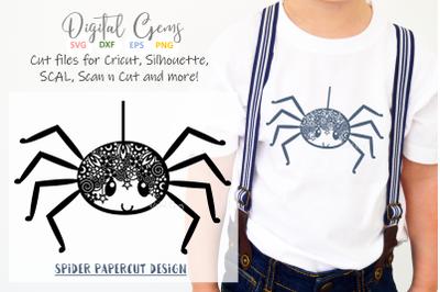 Spider papercut design