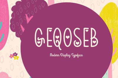 Geqoseb Typeface