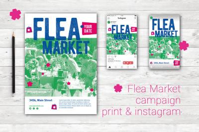 Flea Market flyer & instagram