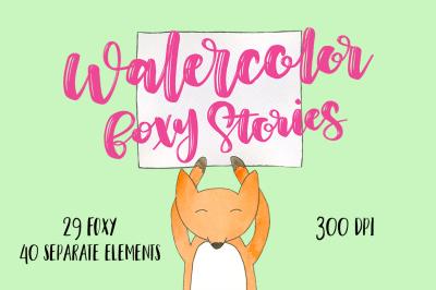 Watercolor foxy stories