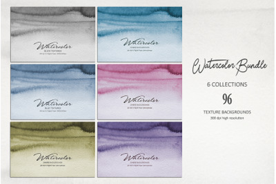 Water Color BUNDLE 6 Collections 96 Textures
