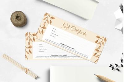 Gift Certificate/Voucher Template