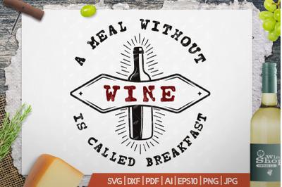 Wine Logo Template, Vintage Winery Badge SVG Design