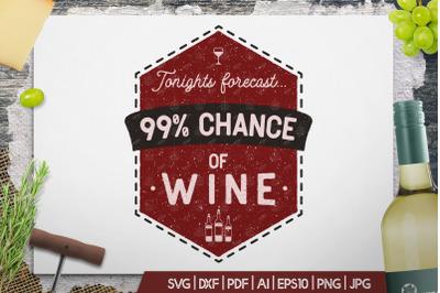 Fun Wine Print, Vintage Winery Badge TShirt Design