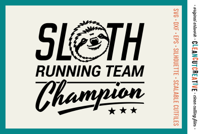 SLOTH RUNNING TEAM CHAMPION!