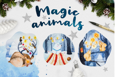 Christmas animal set