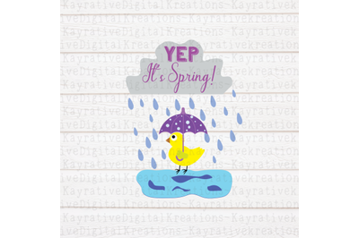 Yep It's Spring SVG - Spring Cut File
