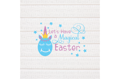 Unicorn Easter Eggs Svg - A Magical Easter