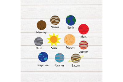 Planets SVG