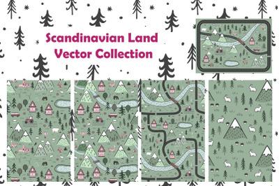Scandinavian Land. Vector Collection