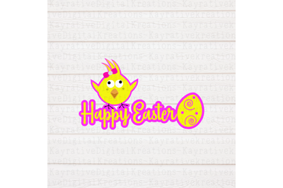 Happy Easter SVG - Girl Easter Shirt
