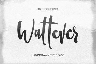 Wattever | Handdrawn Typeface