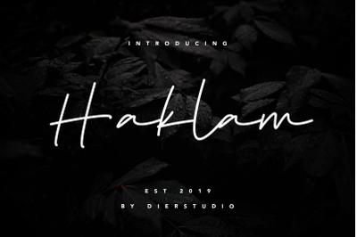 Haklam Signature