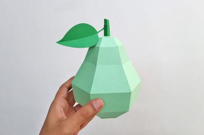 DIY Pear - 3d papercraft