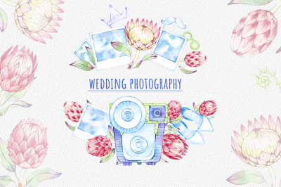 watercolor wedding photography