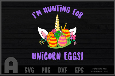 Hunting For Unicorn Eggs Easter T Shirt Design