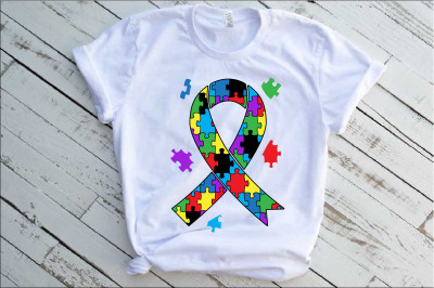 Ribbon Puzzle Autism Awareness SVG Awareness Color kind fight 1342S