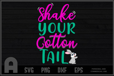 Easter Shake Your Cartoon Tail Bunny T-Shirt For Adults & Kids