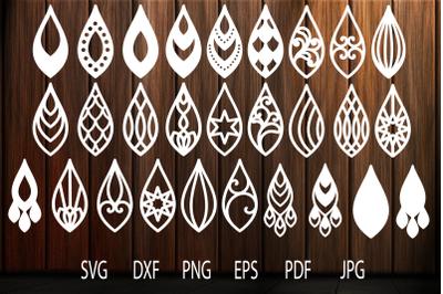 Earrings svg, Teardrop Earrings, Earrings Template, Tear Drop SVG, Tea