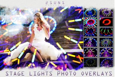 Stage lights overlays textures background
