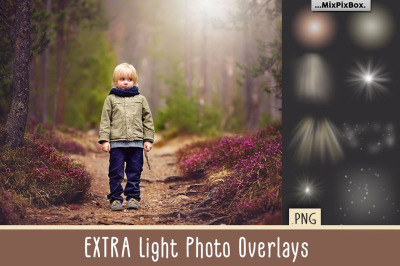Extra Light PNG Photo Overlays