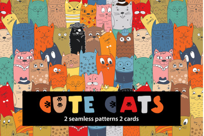 Cute doodle cats
