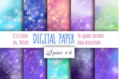 Galaxy digital paper. Starry sky paper