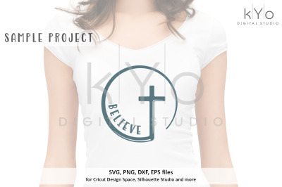 Christian Cross Believe svg png dxf eps files