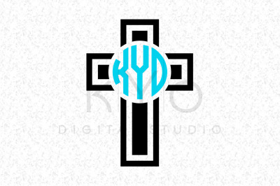 Christian Cross Monogram cutting or printable files