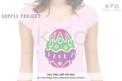 Patterned Easter Egg svg png dxf eps files