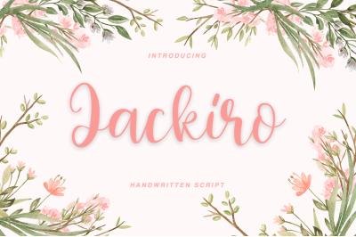 Jackiro - Script font