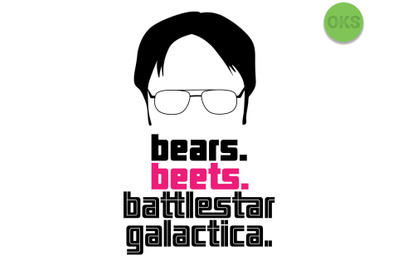 bears beets battlestar galactica svg, svg files, vector, clipart, cric