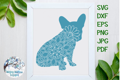 French Bulldog Mandala SVG | Animal Mandala Cut File