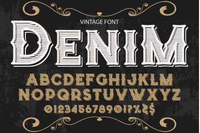 script typeface vector label design