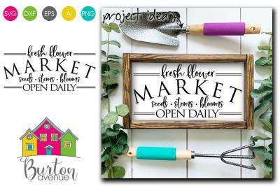 Fresh Flower Market - SVG file for Spring