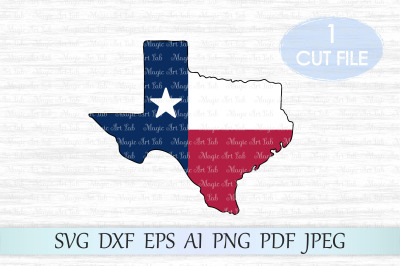 Texas state SVG, Texas cut file