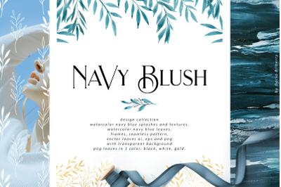 Navy Blush