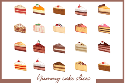 Cake slice collection