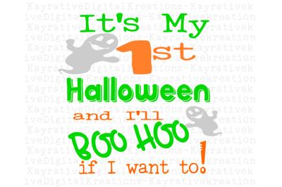 My 1st Halloween SVG - Boys 1st Halloween SVG
