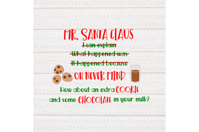 Mr Santa Clause SVG - Naughty List SVG - Christmas