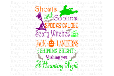 Ghosts and Goblins SVG - Halloween SVG