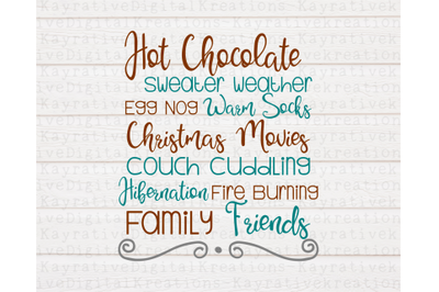 Christmas Word Art SVG - Christmas SVG - Christmas Home Decor
