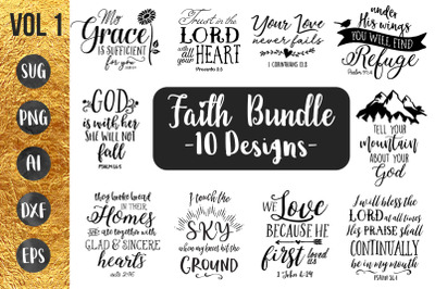 FAITH BUNDLE vol1 - SVG Cut Files