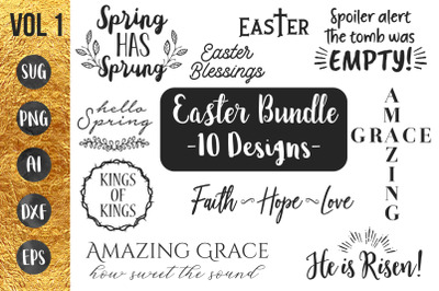 EASTER SPRING BUNDLE vol1 - svg