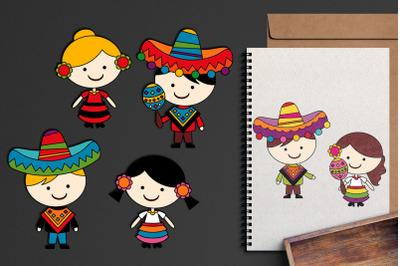 Mexican Children Cinco De Mayo Graphics